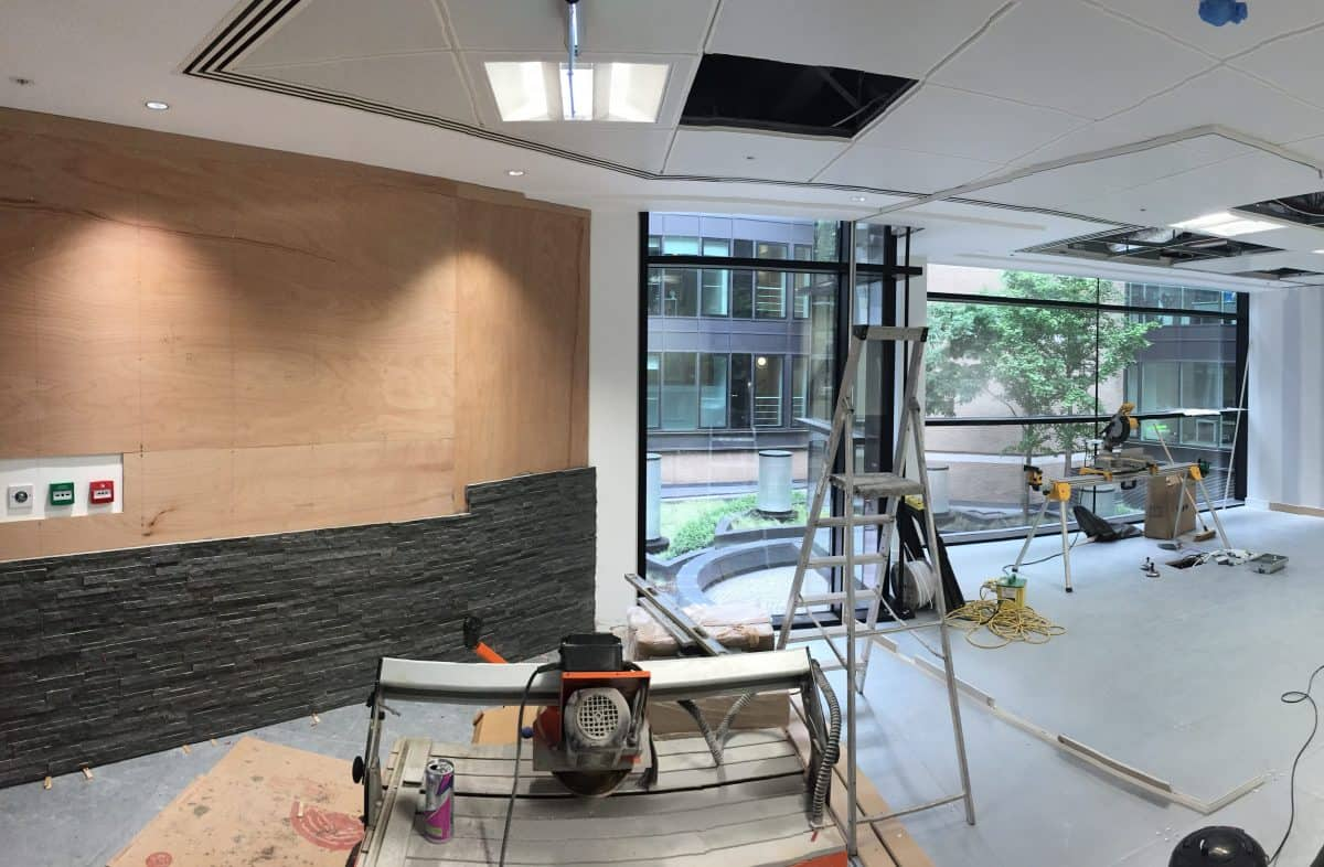 CVR Entryway in progress building site